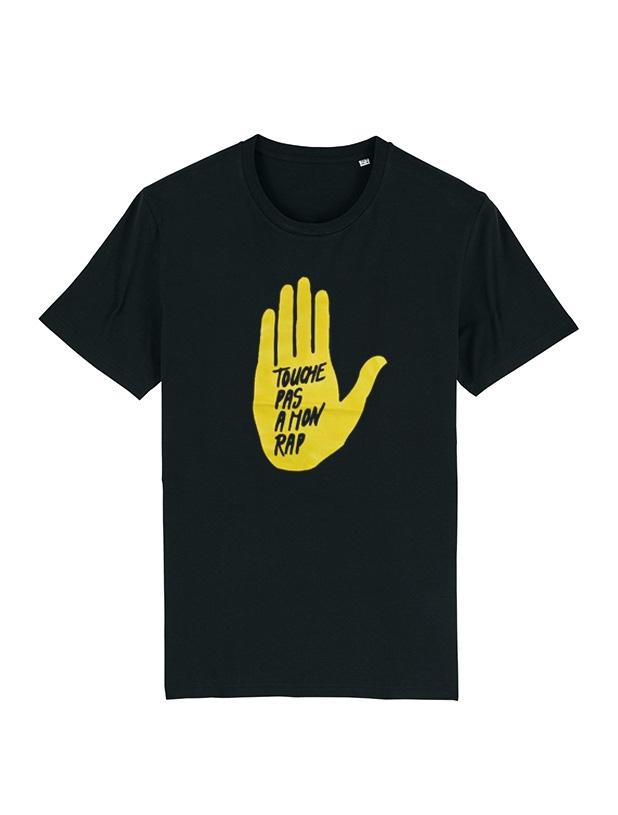 T Shirt  - Touche pas a mon rap noir de rapattack sur Scredboutique.com