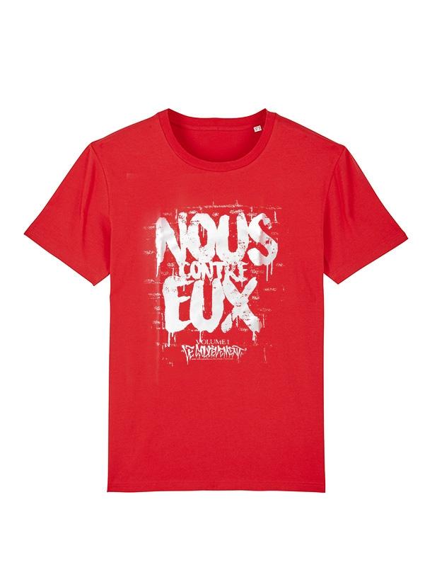Tshirt Le Gouffre Nous contre eux rouge de le gouffre sur Scredboutique.com
