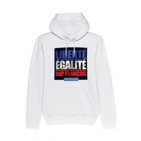 Sweat Capuche Metronome Liberté Egalité Rap Français