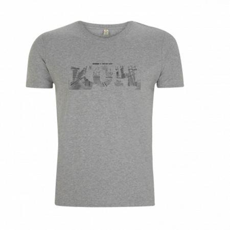 "tee-shirt ""Kohndo"" gris logo noir"