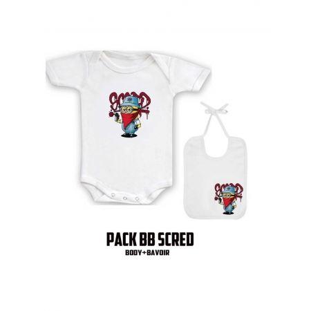 """Pack """"BaBy Scred"""" Blanc logo mini"""