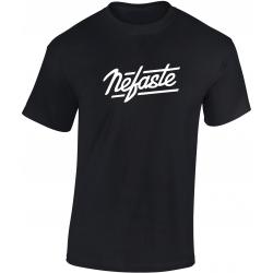 Tee-shirt Nefaste noir logo blanc de nefaste sur Scredboutique.com