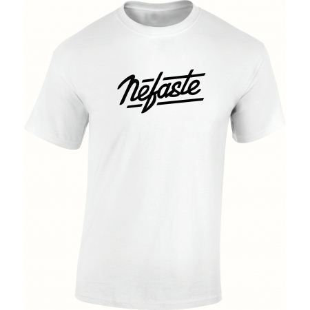 Tee-shirt Nefaste blanc logo noir