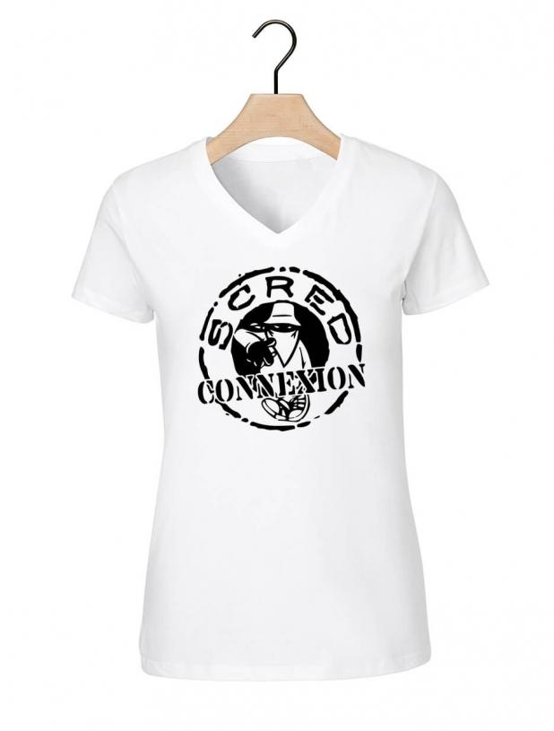"tee-shirt ""classic"" blanc logo noir"