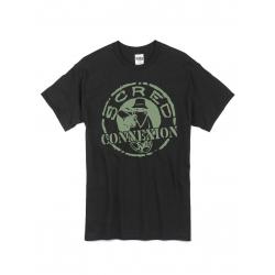 """Tee Shirt """"Classico"""" Noir Logo Kaki de scred connexion sur Scredboutique.com"""