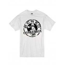 """tee-shirt """"classico"""" blanc logo noir de scred connexion sur Scredboutique.com"""