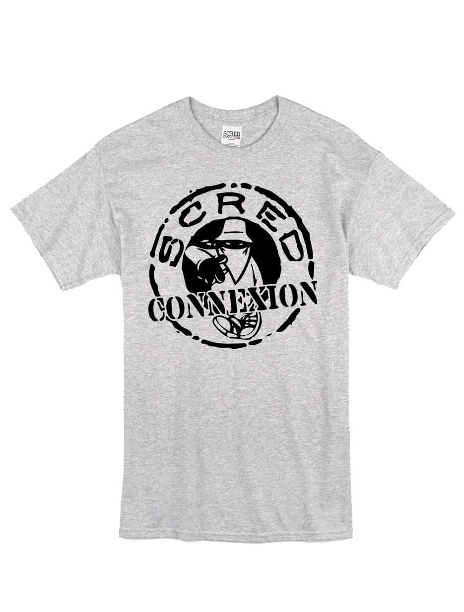 """tee-shirt """"classico"""" gris logo noir de scred connexion sur Scredboutique.com"""