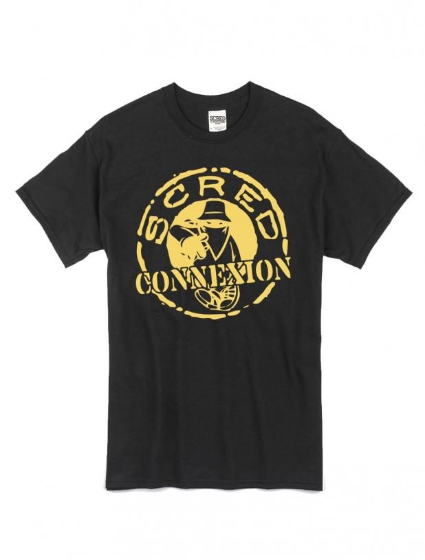"tee-shirt ""classico"" noir logo or"