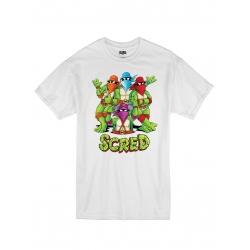 "T-Shirt ""Scred Turtles"" Blanc de scred connexion sur Scredboutique.com"