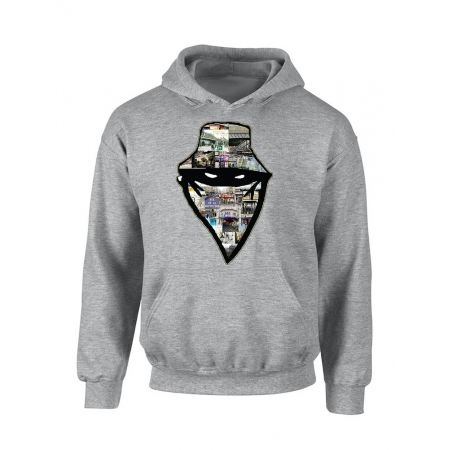"""sweat capuche """"Barbes Story"""" Gris"""