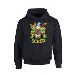 """Sweat Capuche """"Scred Turtles"""" Noir de scred connexion sur Scredboutique.com"""
