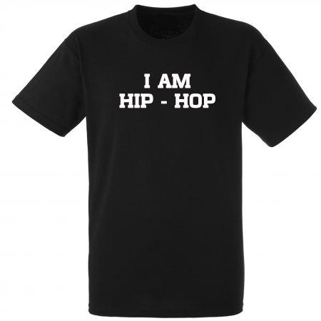 """tee-shirt  """"I am hip hop"""" noir"""