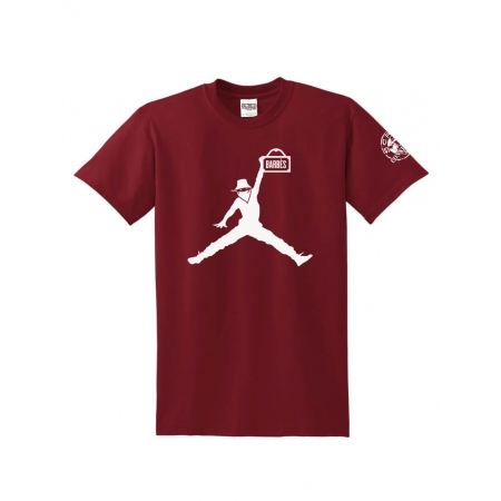 """T-Shirt Logo """"Air Scred"""" Burgundy logo blanc"""
