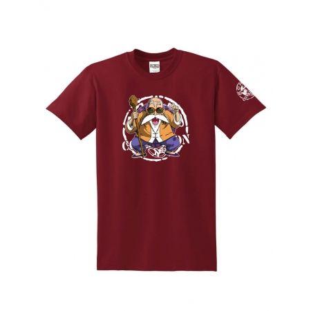 "T-Shirt Logo ""Tortue 2"" Burgundy"