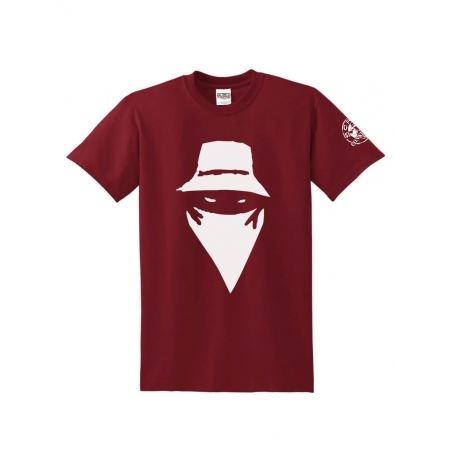 """Tee Shirt """"Visage"""" Burgundy"""