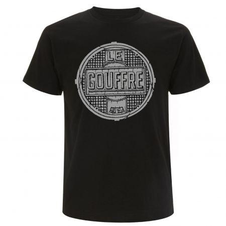 """tee shirt le gouffre """"plaque"""" noir"""