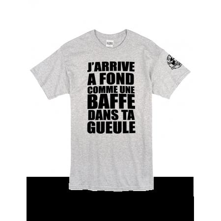 "Tee Shirt ""Jarrive"" gris logo Noir"