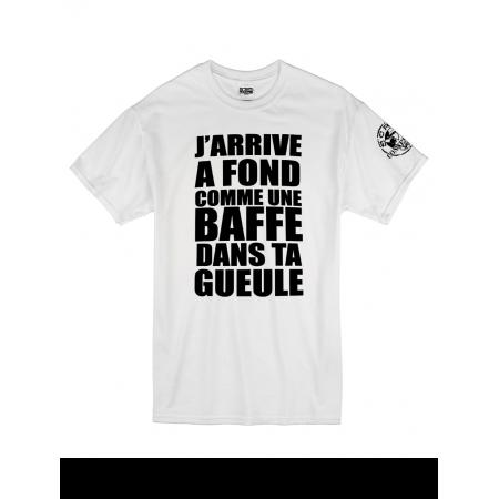 """Tee Shirt """"Jarrive"""" blanc logo Noir"""