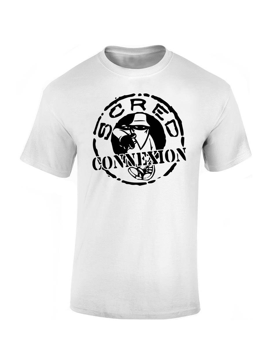 "Tee-shirt enfant ""classico"" blanc logo noir de scred connexion sur Scredboutique.com"