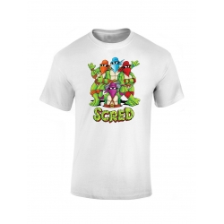 T shirt enfant Scred Turtles blanc de scred connexion sur Scredboutique.com