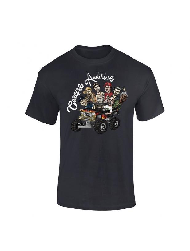 """tee-shirt """"Yoshi Caresse Auditive"""" Noir"""