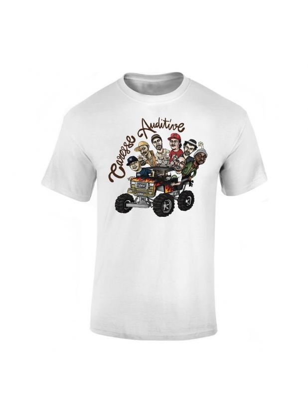"""tee-shirt """"Yoshi Caresse Auditive"""" Blanc"""