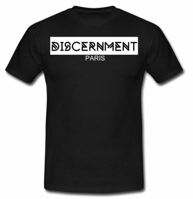 """Tee-shirt """"Discernment"""" Noir de discernment sur Scredboutique.com"""