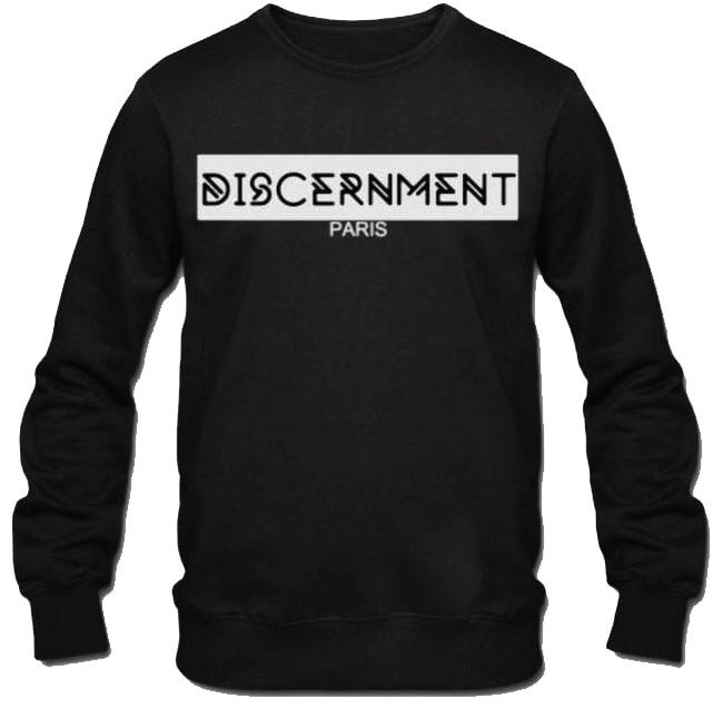 "Pull ""Discernment"" Noir de discernment sur Scredboutique.com"