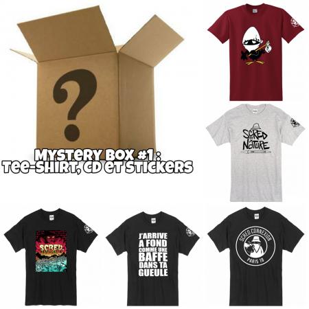 "Pack Mystery Box 1 ""Tee-shirt, CD,Stickers"""