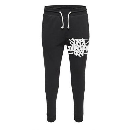 Pantalon de jogging noir ajusté Coup de crayon