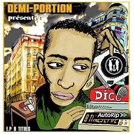 """Album Cd """" Demi-portion """" - 8 titres et demi vol 1"""