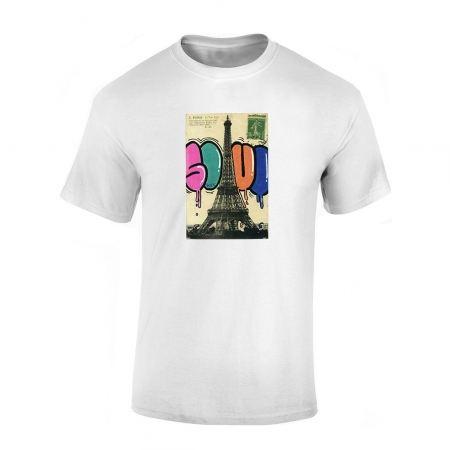 Tshirt Blanc fonce Soul Tour eiffel