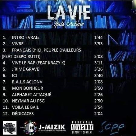 "Album Cd ""Rals Aclonv - La vie"""
