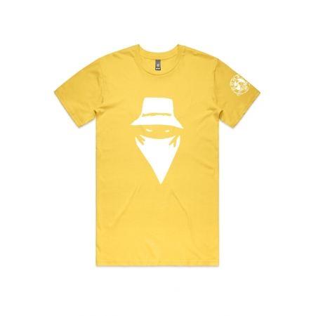 "T-Shirt ""Visage"" Jaune et blanc"