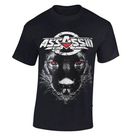 """tee-shirt assassin """"panthere"""" noir"""