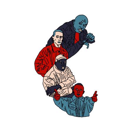 T Shirt Noir by Sims - LA CLIQUA
