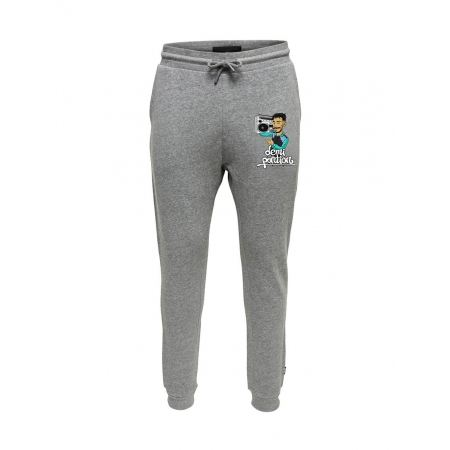 Pantalon de Jogging Gris Demi Portion
