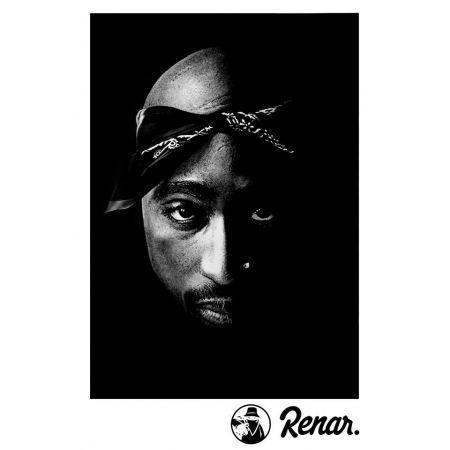 T shirt Renar Tupac Noir