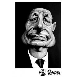 T shirt Renar Chirac Blanc de renar sur Scredboutique.com