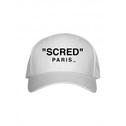 Casquette Blanche Scred Paris de  sur Scredboutique.com