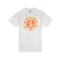 Tshirt Classico Blanc Orange de scred connexion sur Scredboutique.com