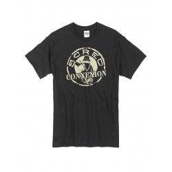 Tshirt Classico Noir Beige de scred connexion sur Scredboutique.com