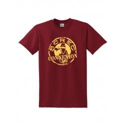 Tshirt Classico Bordeaux Jaune de scred connexion sur Scredboutique.com
