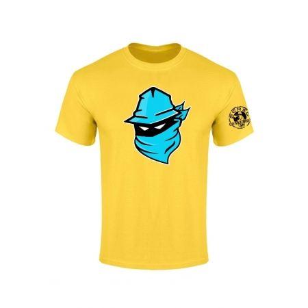 Tshirt Jaune Visage Bleu