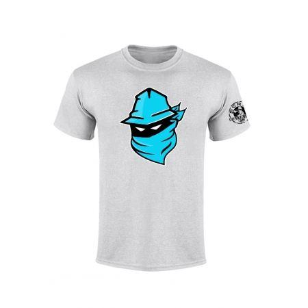 Tshirt Gris Visage Bleu