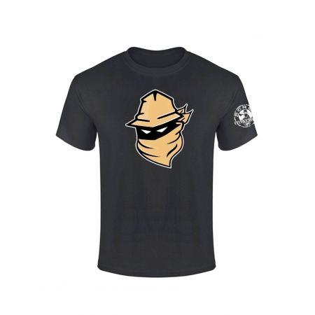 Tshirt Noir Visage Beige