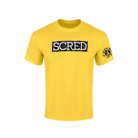 TShirt Scred Typo jaune Camo