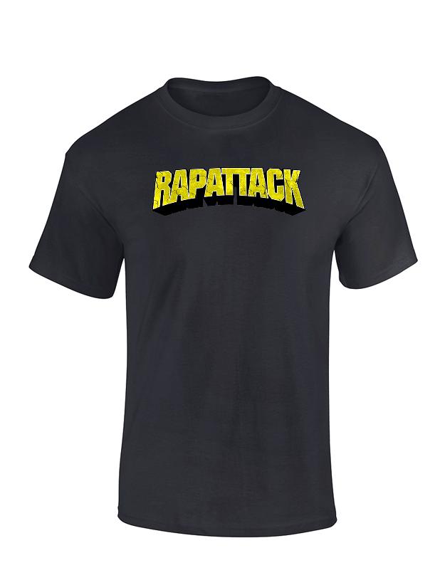T Shirt  - Rapattak Noir de rapattack sur Scredboutique.com