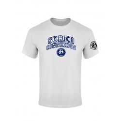 Tshirt Scred University Blanc de scred connexion sur Scredboutique.com