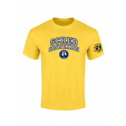 Tshirt Scred University Jaune de scred connexion sur Scredboutique.com